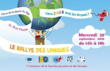 "Kidilangues and the 2nd ""Rallye des langues"" 2016 Paris15e"
